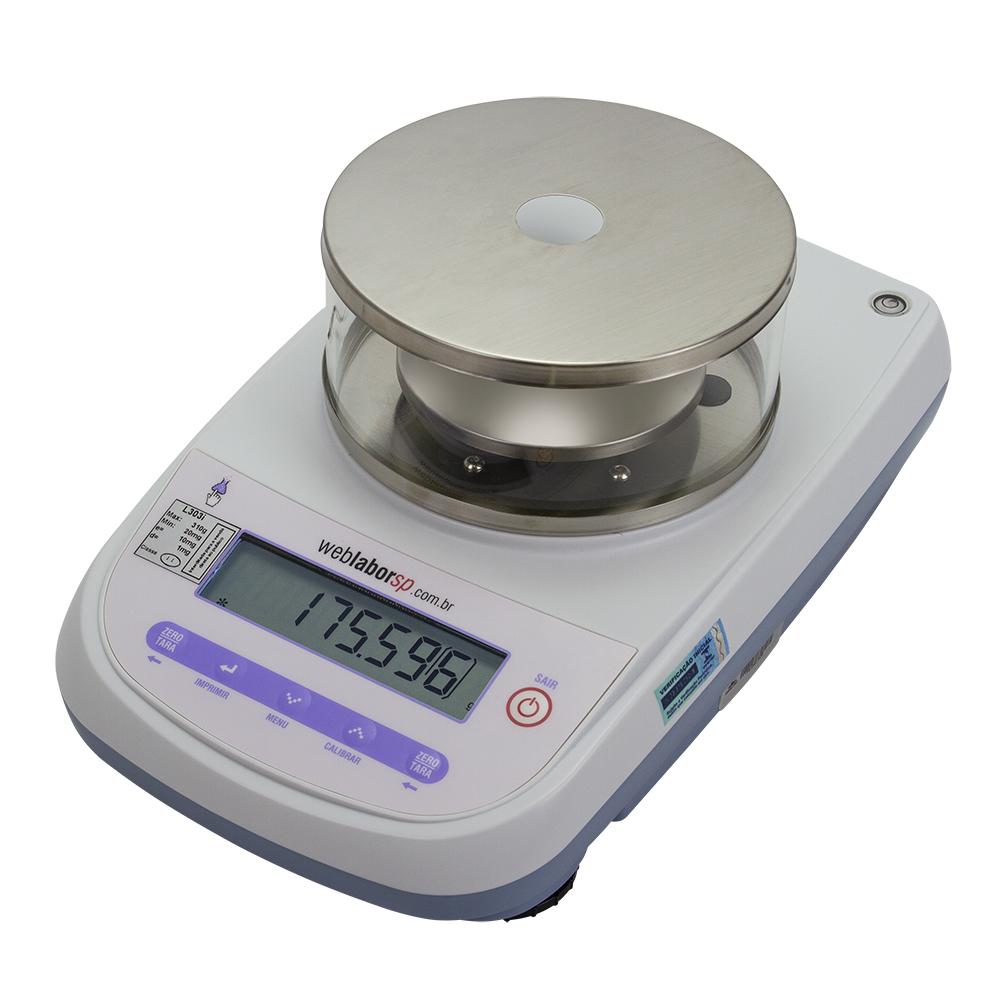 balança Semi-Analítica pesa com precisão centesimal de até 0.001g.