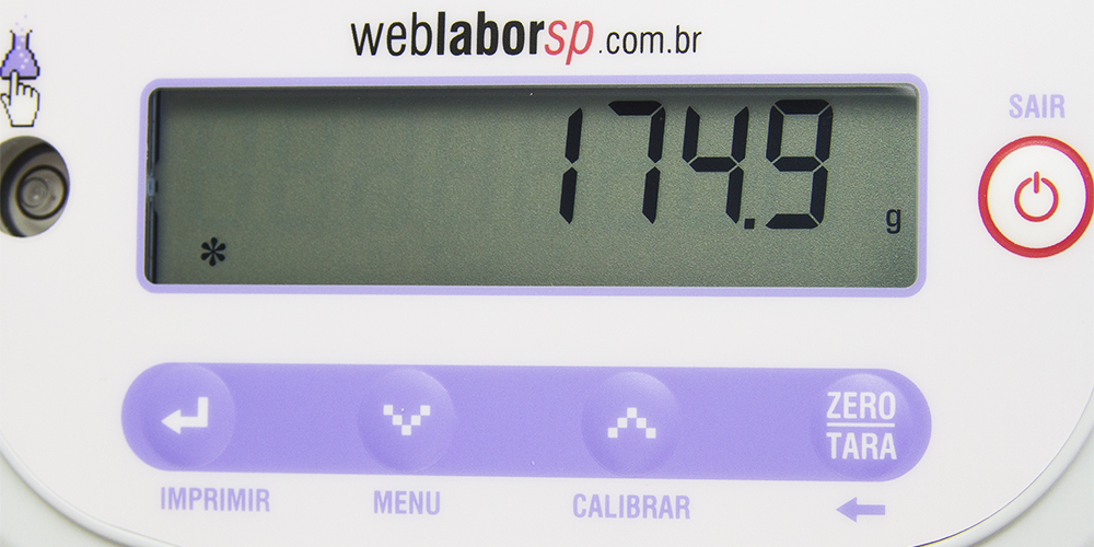 balança Semi-Analítica Weblabor display de LCD.